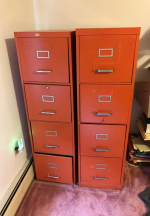 File cabinet with four drawers each for Sale in Pequannock Township, NJ