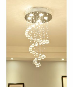 New House Indoor Decor Elegant Decoration Decor 5 Light Sparkling Spiral Crystal Chandelier for Sale in China Spring, TX