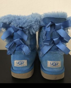 Girls Women Bailey Bow UGG Boots Blue size 5.5 for Sale in FL, US