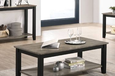 Wooden Top Coffee Table Black & Grey for Sale in Fresno,  CA