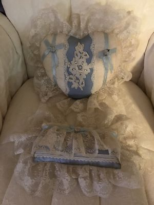 Beautiful! Victorian blue Lace Decor Pillows for Sale in Gainesville, VA