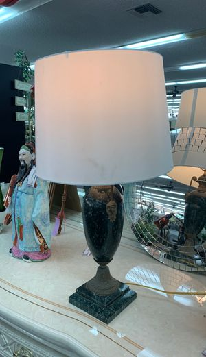 Rare Antique Bronze and Green Marble Lamp for Sale in Huntington Beach, CA