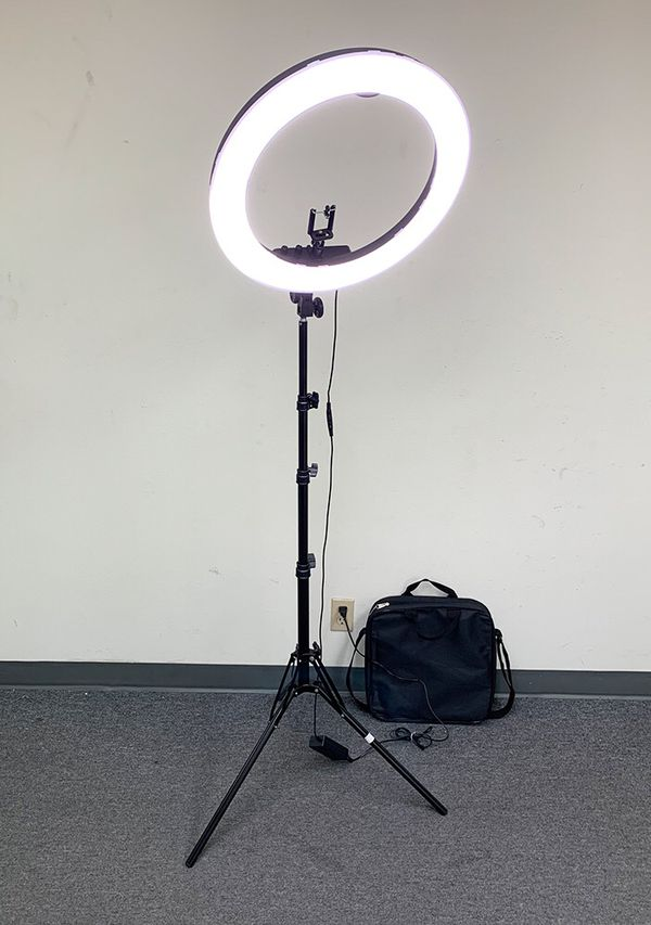 "New $90 each LED 19"" Ring Light Photo Stand Lighting 50W 5500K Dimmable Studio Video Camera"