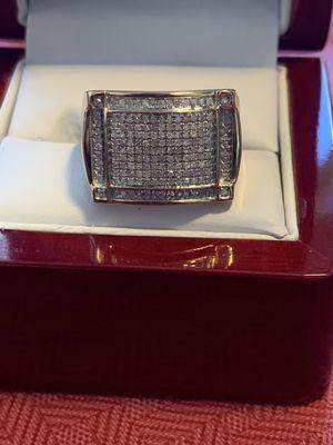 10k diamonds men's new ring authentic gold and half carat diamonds for Sale in Virginia Beach, VA