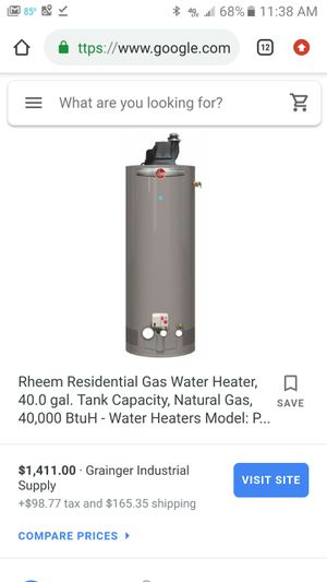 Rheem 40 Gallon. Great Condition. Gas Water Heater for Sale in Hollywood, FL