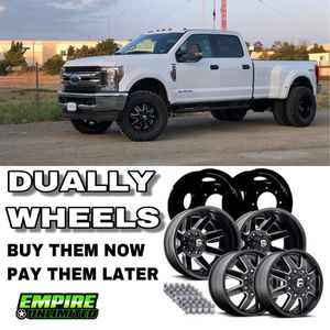 BRAND NEW DUALLY WHEELS. PAYMENT OPTIONS for Sale in Santa Ana, CA
