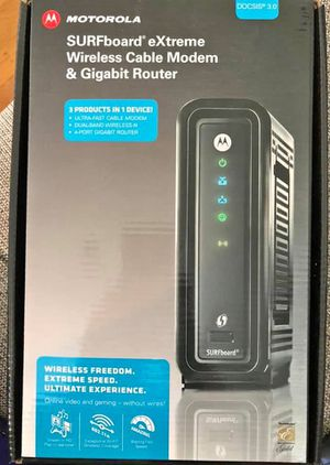 Motorola SURFboard eXtreme Wireless Cable Modem & Gigabit Router in box for Sale in Chico, CA