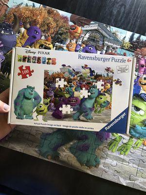 Disney Pixar-Monster Puzzel Age 6+ for Sale in Newburgh, IN