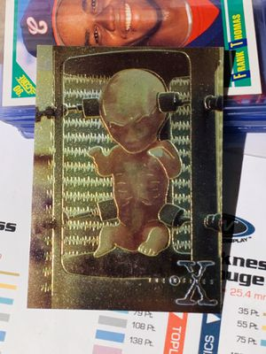 1995 The X-Files Topps series 1 Topps Finest Chromum Card No. X2 for Sale in San Diego, CA
