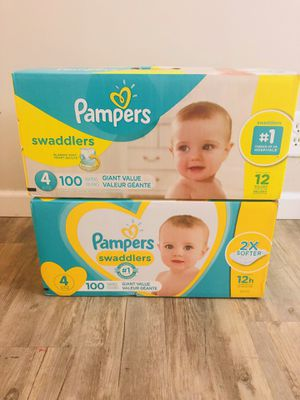 Pamper Swaddlers size 4 (2 packs of 100) sealed for Sale in Whittier, CA