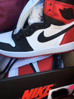 Jordan 1's Satin Black Toe Retro size 9 in wms for Sale in Los Angeles, CA