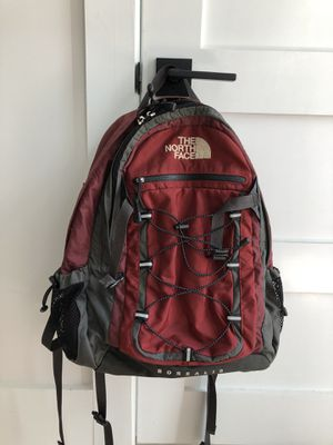 North Face Borealis hiking trail school backpack - Excellent condition . Maroon red black and grey. All zippers work, only used 1 month. for Sale in Washington, DC
