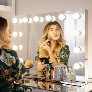 $220 (new in box) hollywood lighted vanity makeup mirror with bright led lights 14 dimmable bulbs 32x26 inches for Sale in Whittier, CA