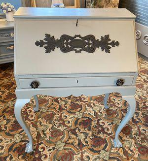 Grey & Black Antique Secretary Desk for Sale in Milwaukie, OR