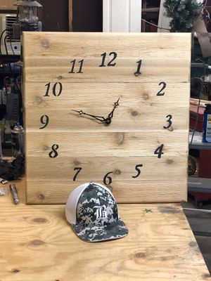 Handmade custom wood clocks for Sale in Richmond, VA