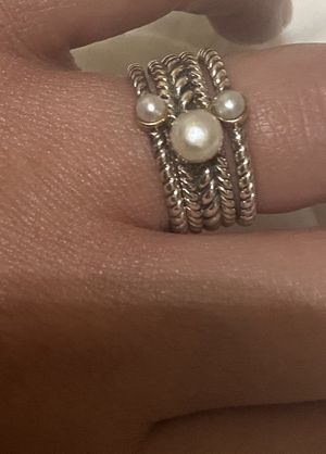 Sterling silver with pearls and 14k gold ring for Sale in Fort Worth, TX