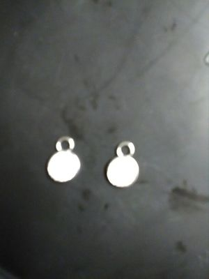 Earring charms crushed diamonds 925 sterling silver for Sale in Phoenix, AZ