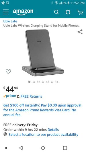 Wireless charging stand for Sale in Fontana, CA