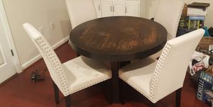 WEST ELM WOOD DINING TABLE w 4 CHAIRS for Sale in Washington, DC