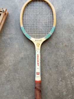 """Tennis Racket vintage wooden Wilson Valiant """"Mary Hardwick"""" speed flex fibre face"""" with case for Sale in Lynnwood,  WA"""