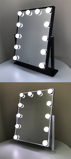 "New $70 each Vanity Mirror 12 Dimmable Light Bulbs Hollywood Beauty Makeup, 16""x12"" for Sale in Pico Rivera, CA"