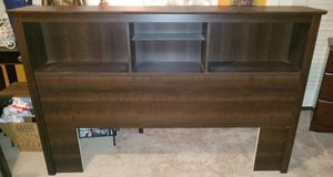 Cherry Wood Full/Queen Headboard with Shelves. Like New! for Sale in Riverside, CA