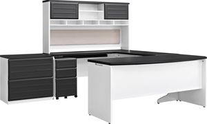 U-shaped Executive Desk with 3 Drawer Filing C for Sale in Columbus, OH