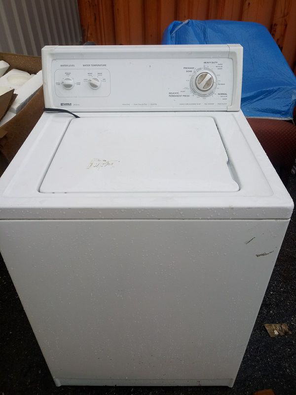 White Kenmore heavy duty washer