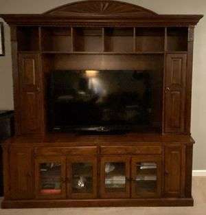 2 Piece Solid Wood Entertainment Center for Sale in Orange Park, FL