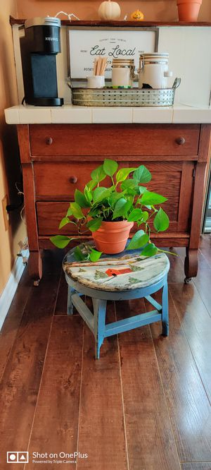 Vintage Industrial Hand Painted Stool for Sale in VLG OF LAKEWD, IL