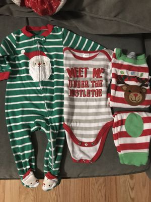 6 mo Christmas baby clothes for Sale in Peabody, MA