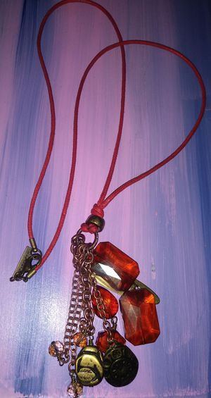 Rope necklace glass charms for Sale in Montclair, CA
