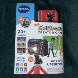 Vtech Kidizoom Creator Cam Hd Video Camera In Hand for Sale in Aurora, IL