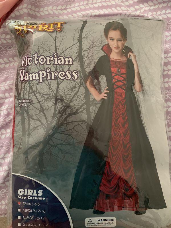 Victorian Vampiress, Halloween Costume, Size Small