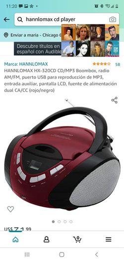 HANNLOMAX HX-320CD CD / MP3 Boombox,  for Sale in Chicago, IL