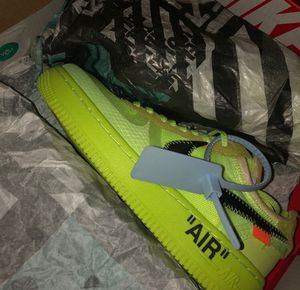 Off White Air Force 1 Volt Size 9-12 for Sale in Alexandria, VA