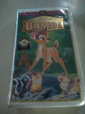 Bambi VHS 55th Anniversary Limited Edition 9505 CLAM SHELL CASE WALT DISNEY RARE: for Sale in Denver, CO