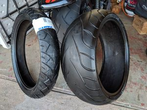 Harley Davidson V-Rod Motorcycle Tires. Sizes 240/40 R18 and 120/70 ZR 19 for Sale in National City, CA