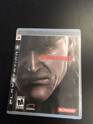 Ps3 playstation 3 game Metal Gear Solid 4 for Sale in Pasadena, CA