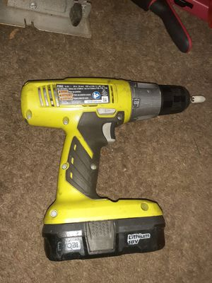 "description For sale is a Ryobi P205G 18V Li-Ion 3/8"" Chuck Cordless Drill/Driver Bare Tool Cordless for Sale in Milton, FL"