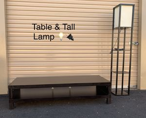 IKEA TV Console/Table Tall Light W/Shelves for Sale in Chandler, AZ