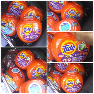 Tide PODS Liquid Laundry Detergent Pacs Spring all brand new never been opened price to sell 15 bucks cash our 2 for 20 for Sale in Chandler, AZ