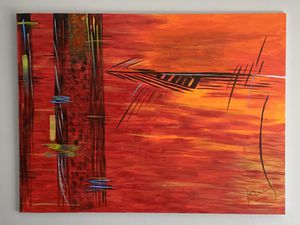 """Nice unique acrylic painting 48"""" x 36"""" for Sale in Pembroke Pines, FL"""