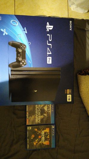 PS4 pro and 2 games for Sale in Fontana, CA