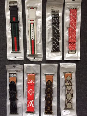 Luxury Wrist Watch Bands Leather for Apple Watches 42mm & 44mm & 38m for Sale in Palos Hills, IL