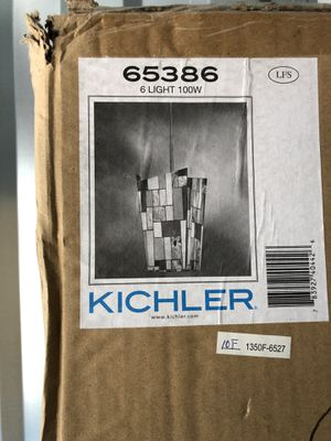 Kichler Mission style 6 light chandelier for Sale in Cumberland, RI
