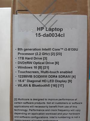 Sale notebook HP 15-da0034cl New ,never used for Sale in Miramar, FL
