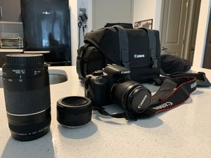 Canon EOS Rebel t4i DSLR Digital Camera / Includes 3 lenses and camera bag for Sale in Phoenix, AZ