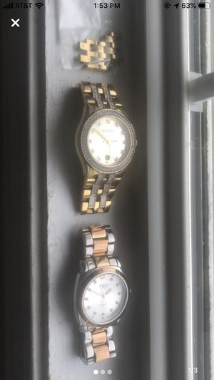 Gold Watch with Diamonds / Silver and Rose Gold watch for Sale in Stratford, CT