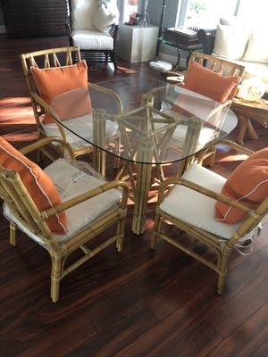 Bamboo table and Chairs for Sale in Hillsboro Beach, FL